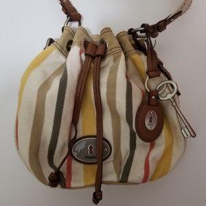 Fossil Maddox Purse Key-per Bag Drawstring Hippie